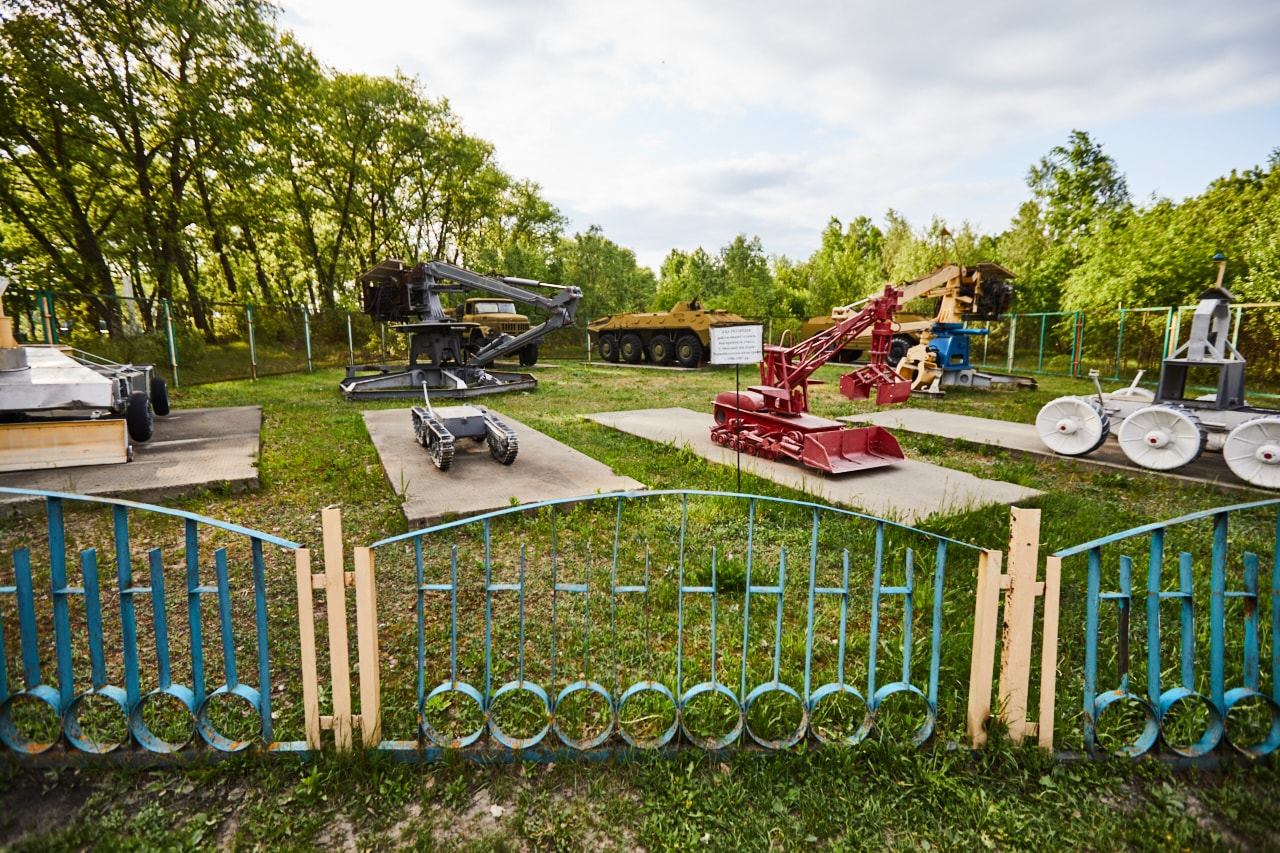 Chernobyl open air museum of machinery photo now